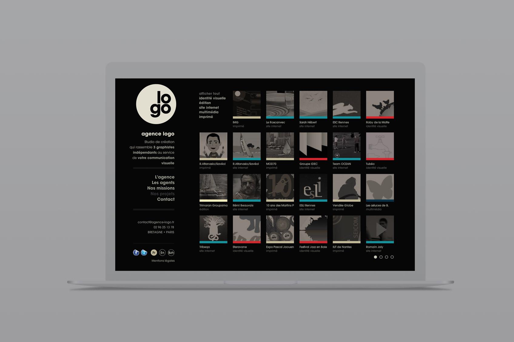 agence de communication visuelle - ancien site internet