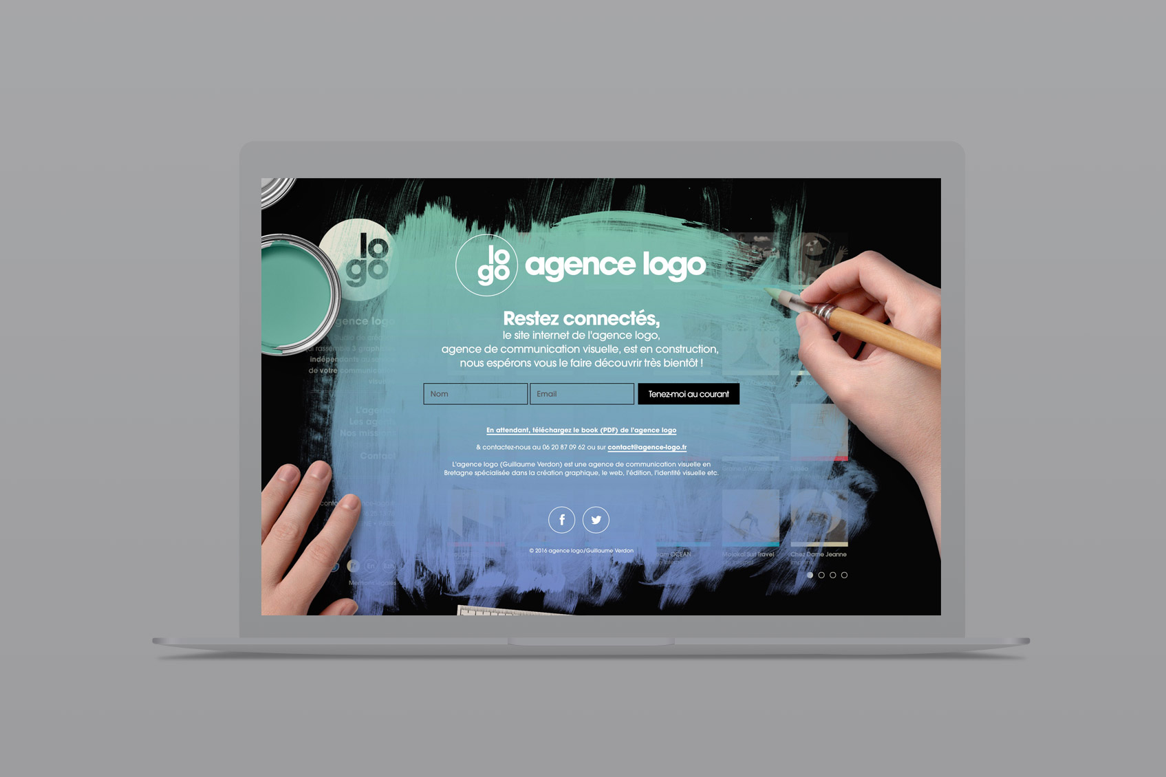 agence de communication visuelle - page coming soon