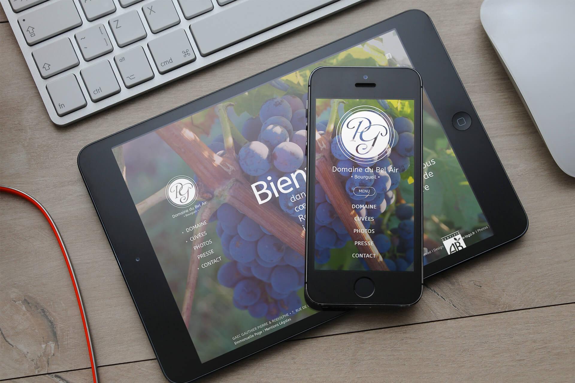 Site internet-Domaine du Bel Air