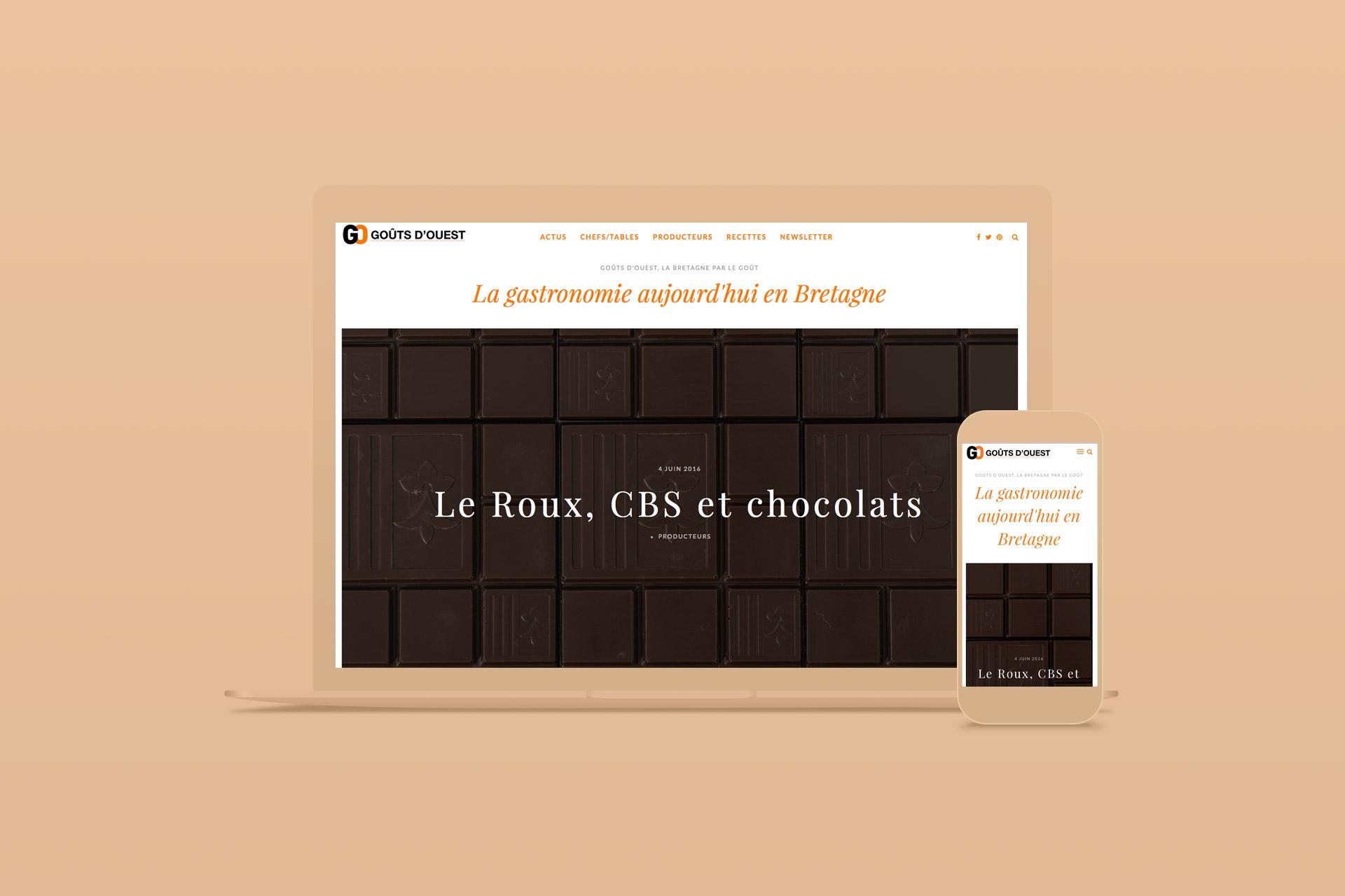 Site internet-Gouts d'Ouest, la Bretagne par le goût-agence logo