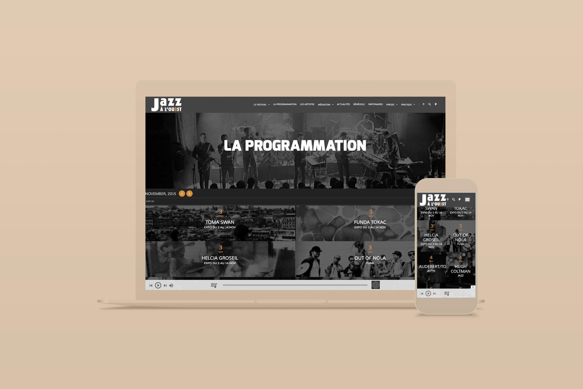 Site internet-Festival Jazz à L'ouest