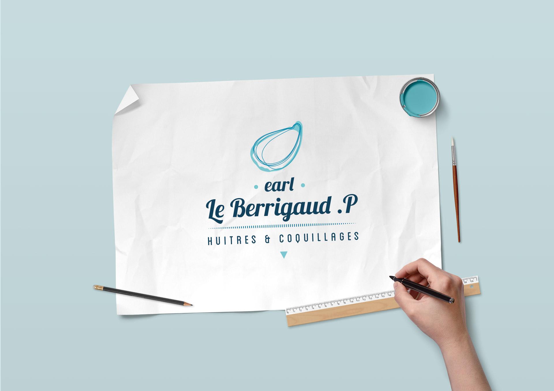 Identité visuelle-LeBerrigaud Huîtres du Morbihan