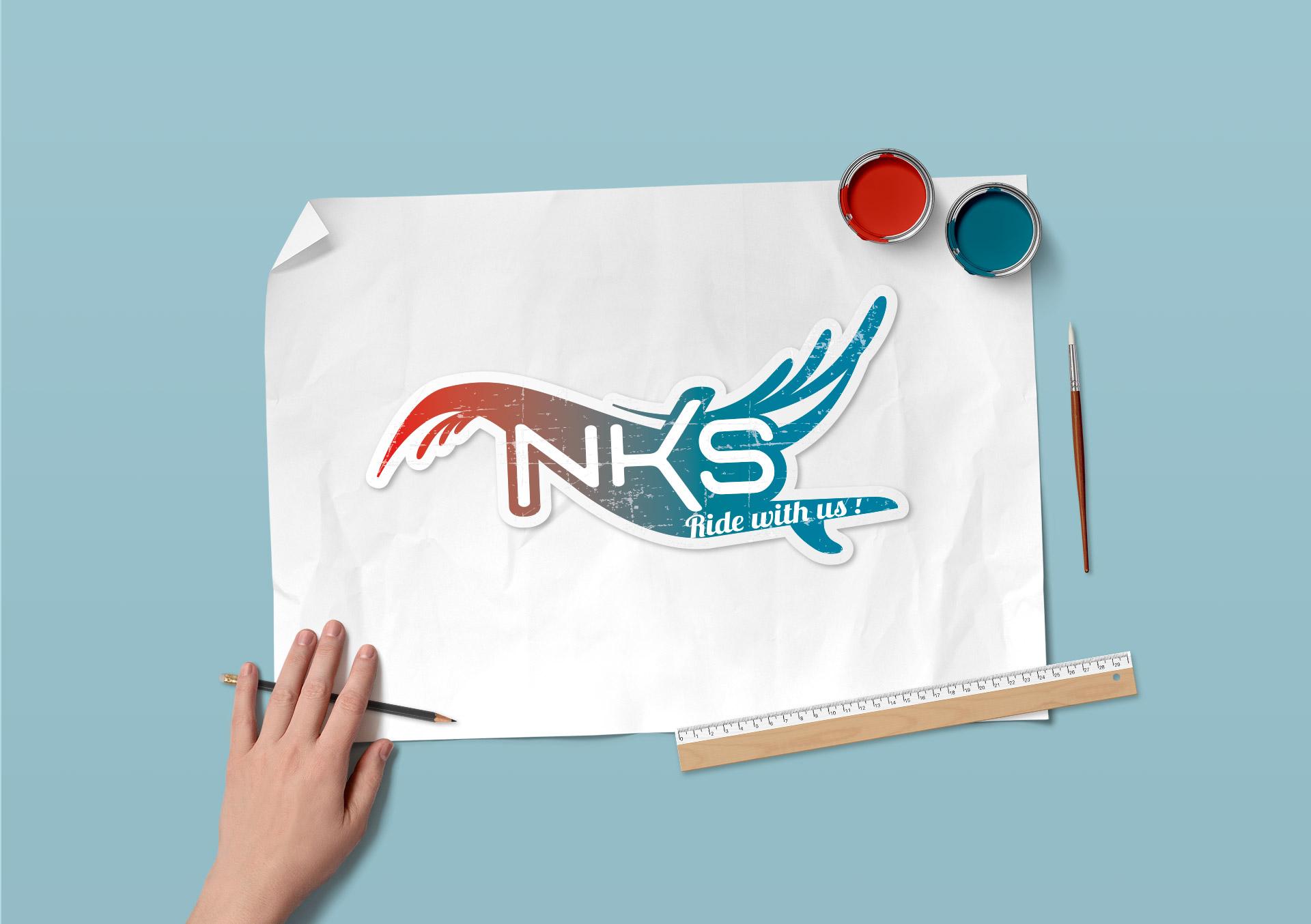 Identité visuelle-NKS école de kitesurf du Morbihan