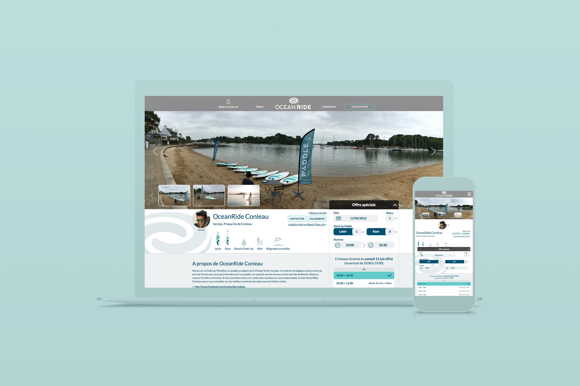 Site internet-OceanRide