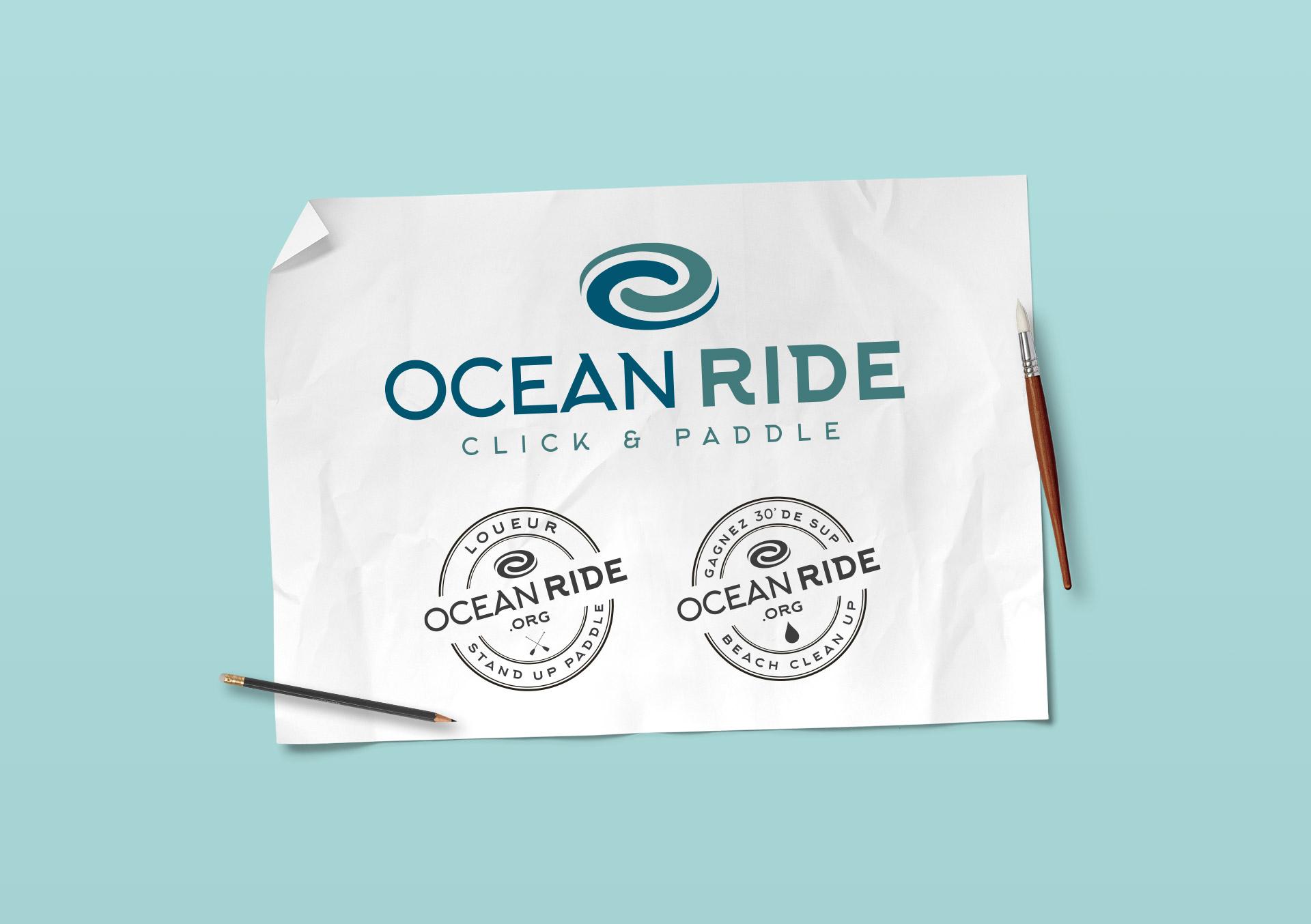 Identité visuelle-Ocean Ride, stand up paddle