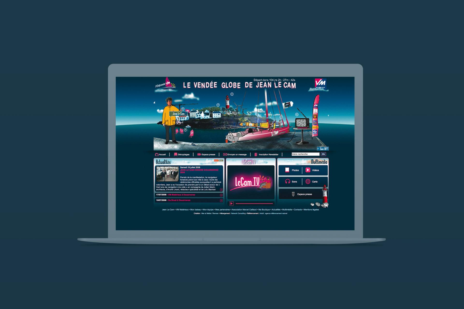 Jean Le Cam-Site internet-Vendée Globe