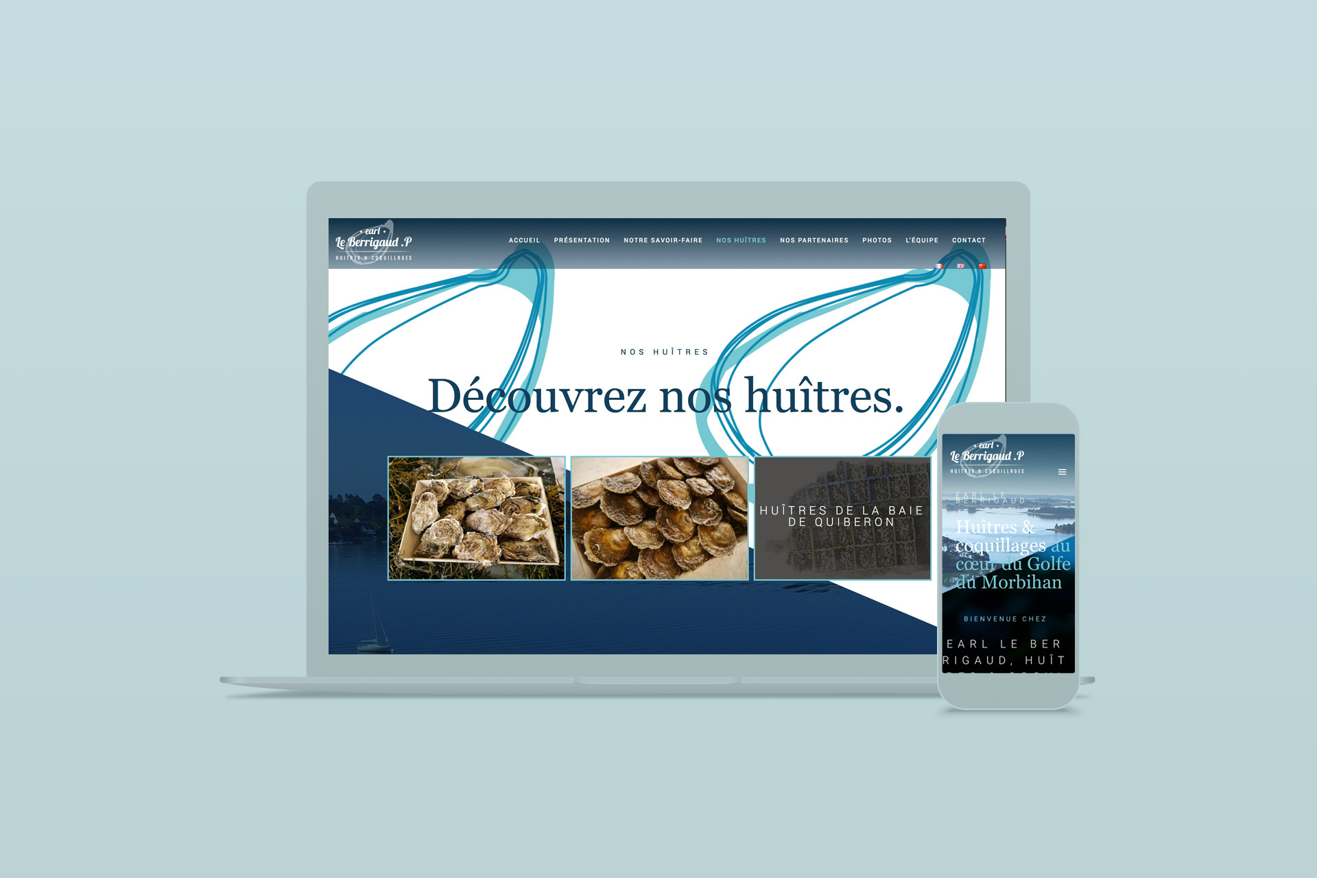 Site internet-LeBerrigaud Huîtres du Morbihan
