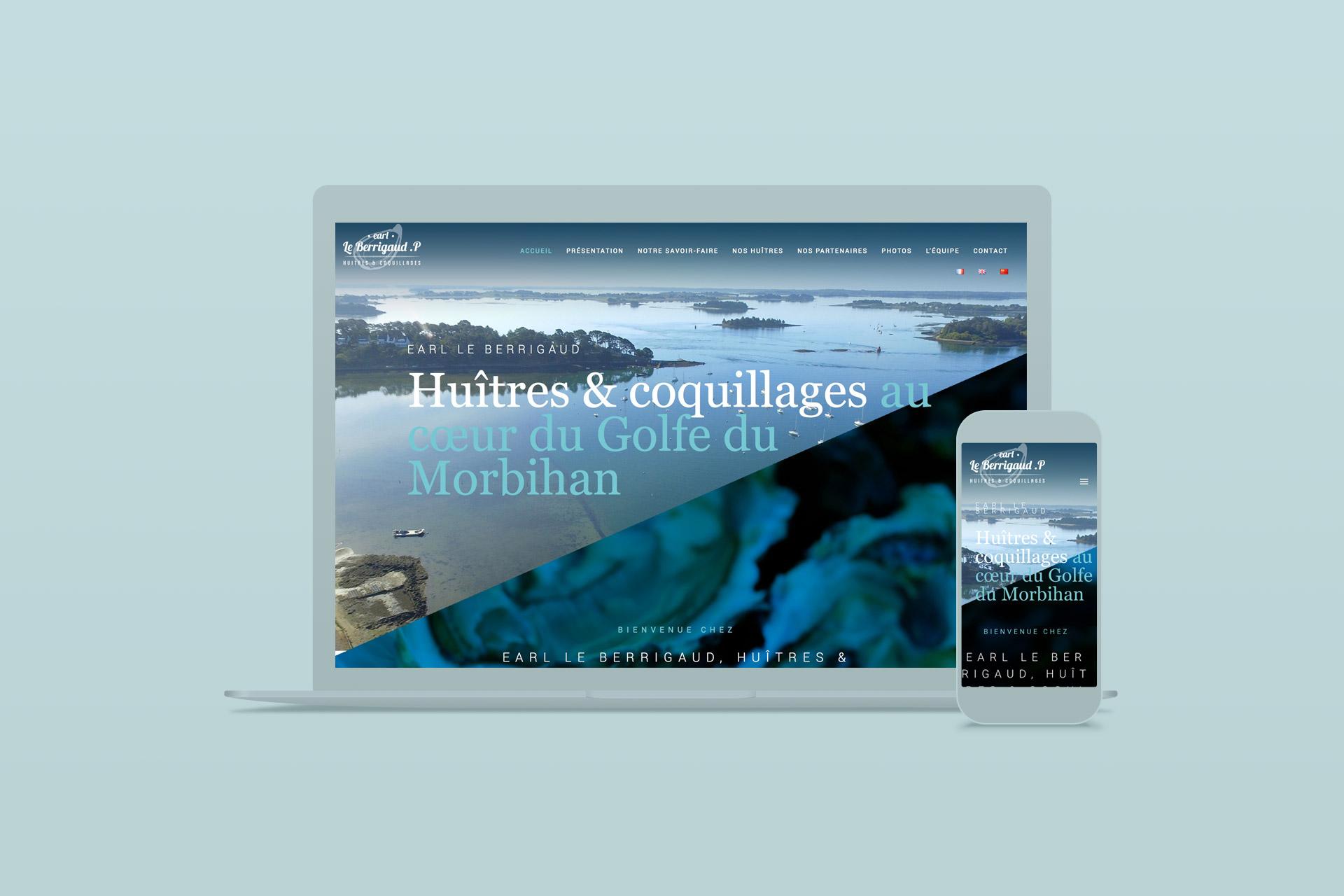 Site internet-LeBerrigaud Huîtres du Morbihan-agence logo