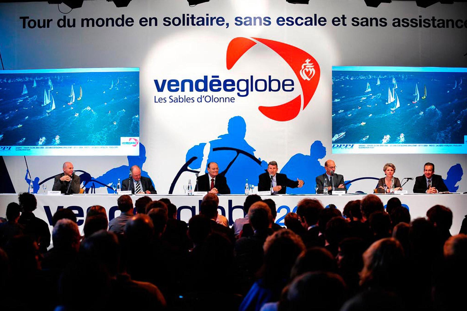 Conférence de presse Vendée Globe 2008-2009-agence logo