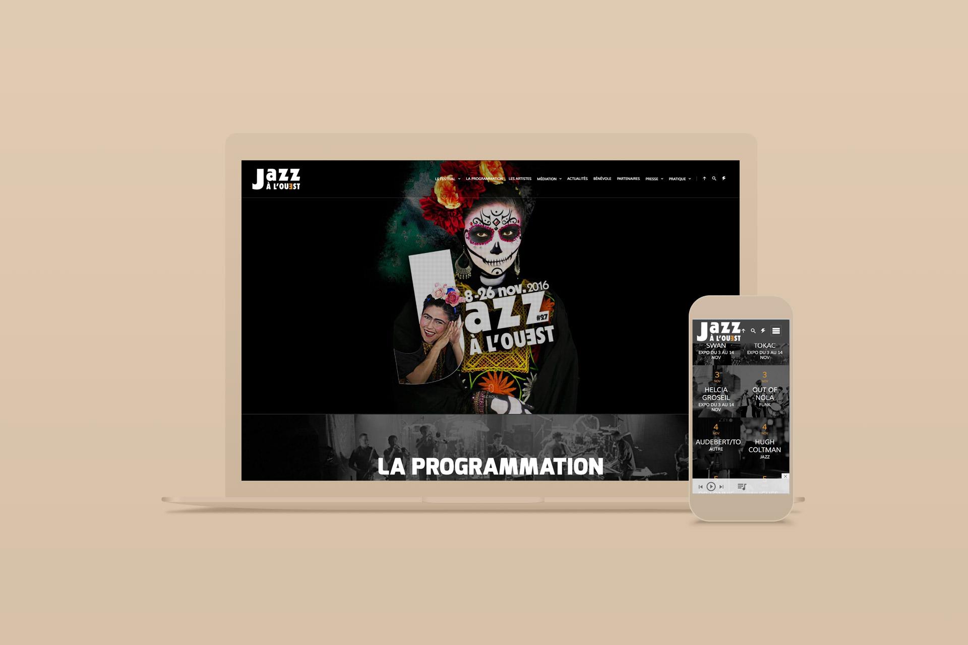 Site internet-Festival Jazz à L'ouest-agence logo
