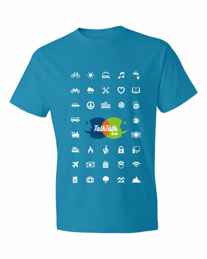 le teeshirt iconspeak / talktalkbnb - agence logo