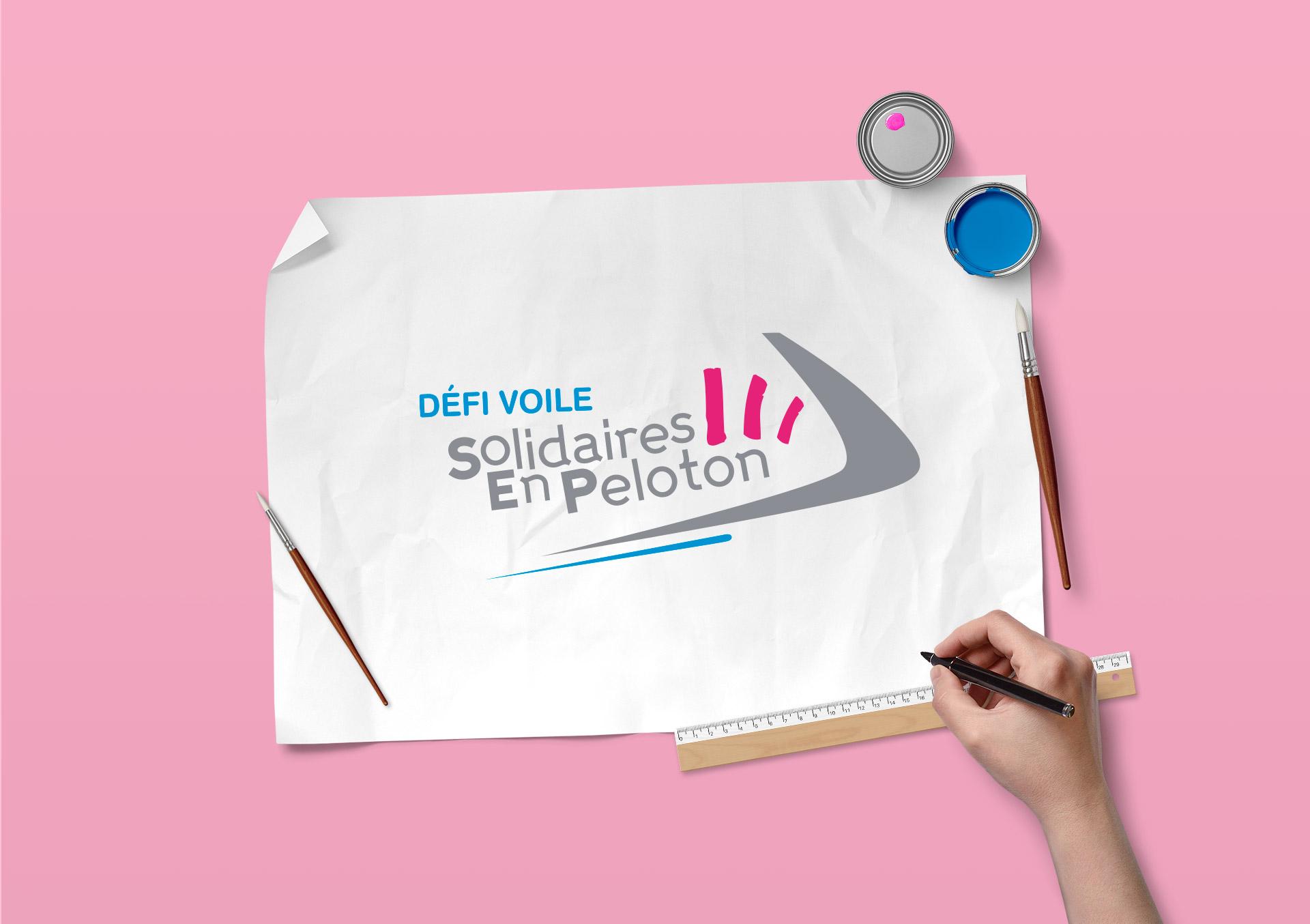 Logo Défi Voile Solidaires en Peloton