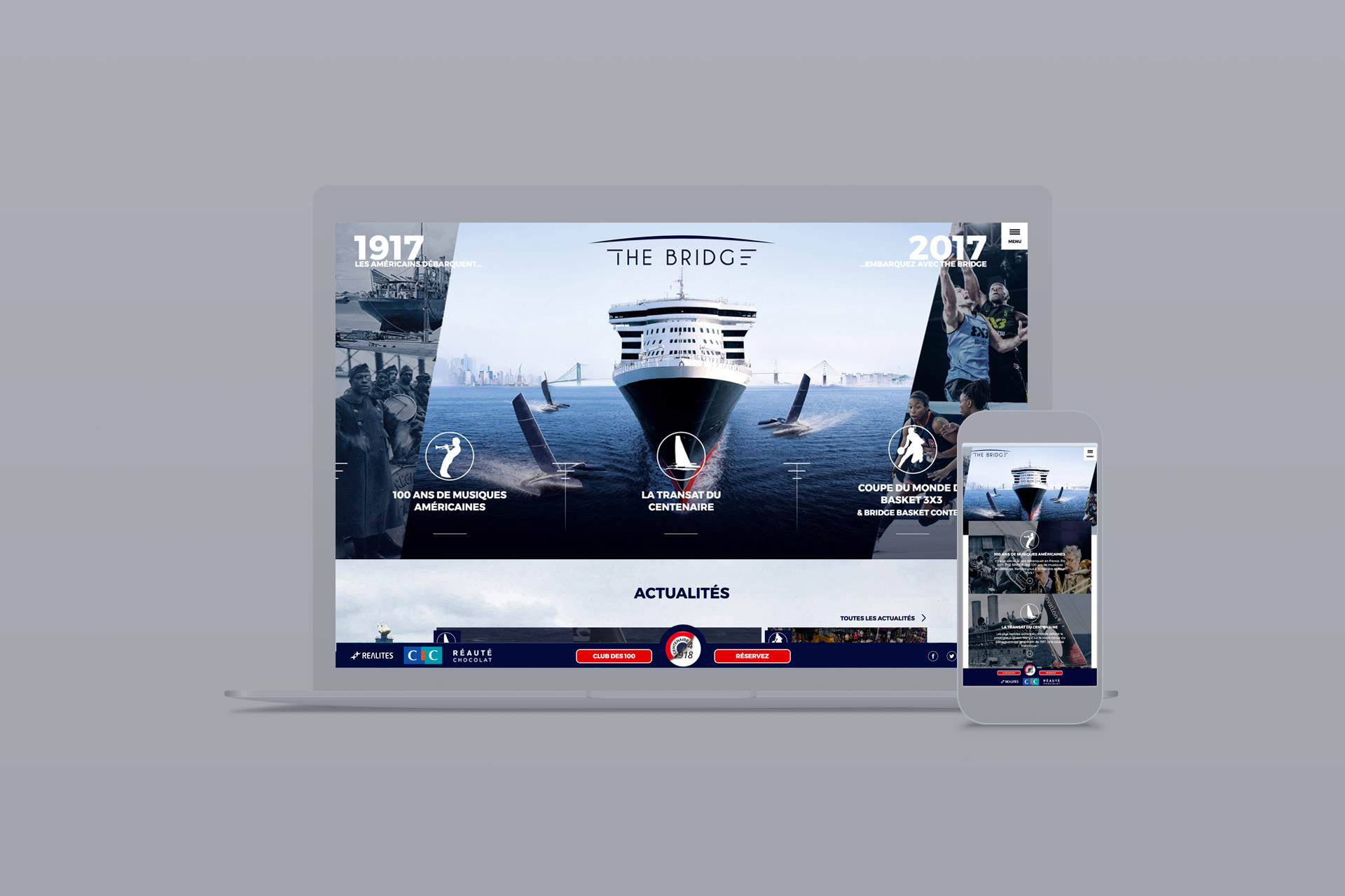 Webdesign du site internet de THE BRIDGE 2017 réalisé par l'agence logo