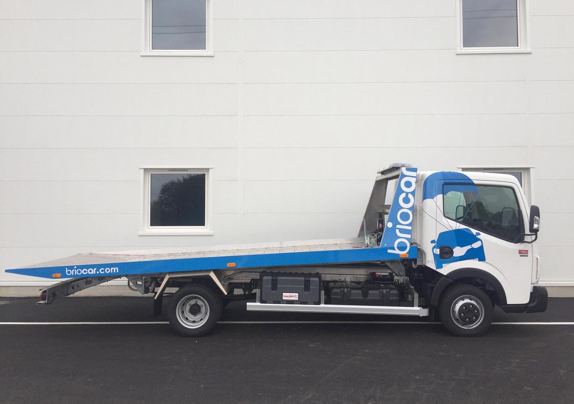 Identité visuelle, décoration du camion Briocar