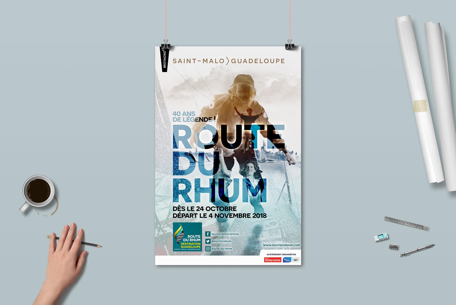 affiche Route du Rhum 2018-2ème de l'appel d'offre