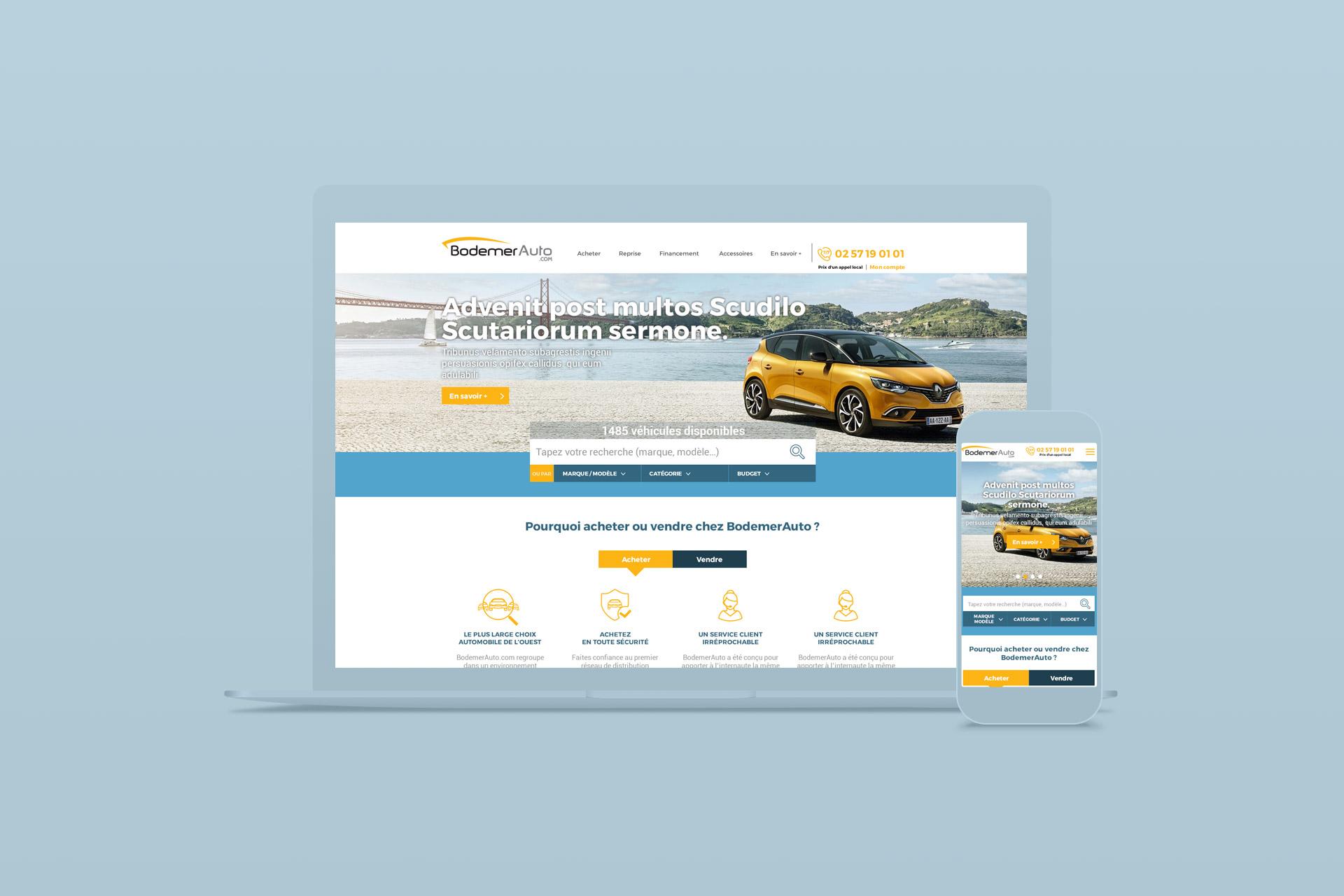 Refonte graphique et webdesign du site internet de BodemerAuto