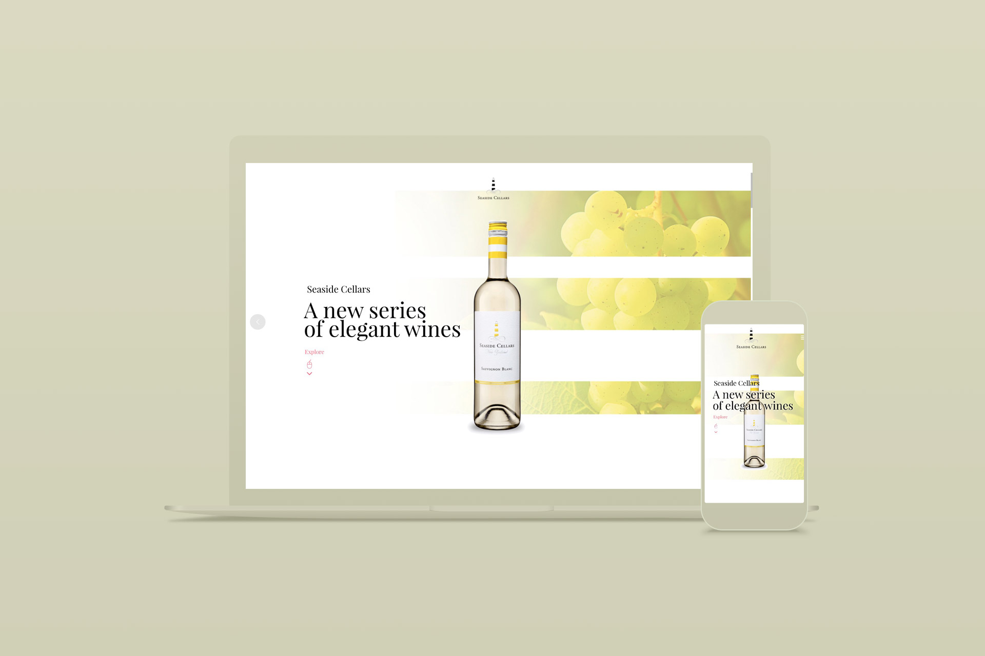 Création du site internet wordpress sur-mesure de Seaside cellars, producteur de vins