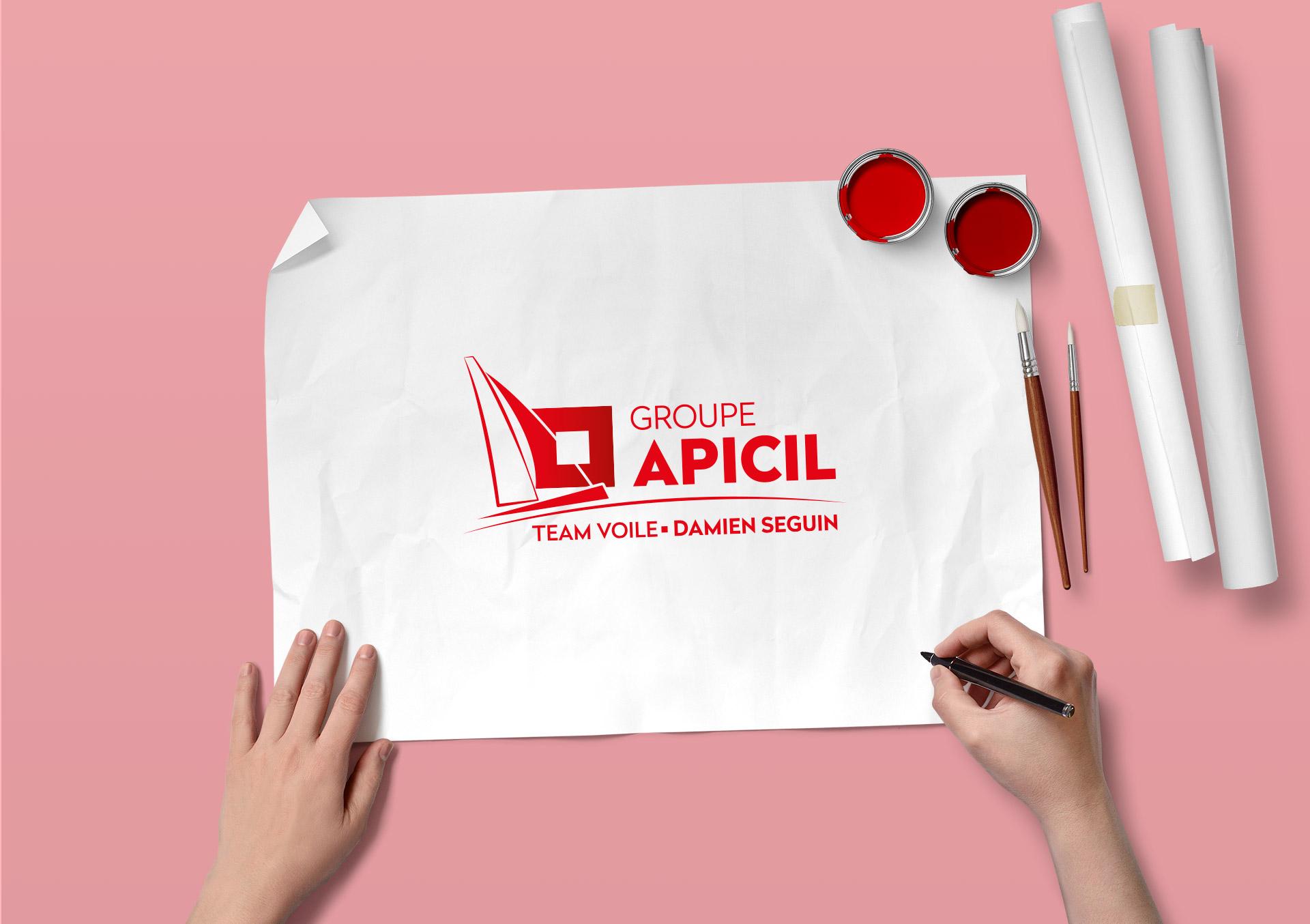 Création de l'identité visuelle du Team voile APICIL